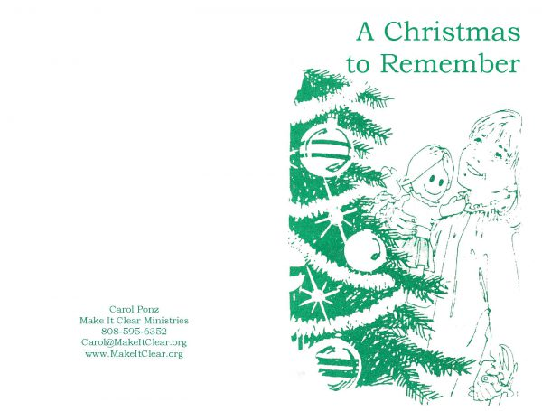 A Christmas to Remember Tract (Pack of 100)